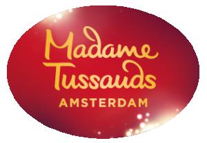 Logo van € 6,50 entree korting bij Madame Tussauds